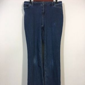 J Jill Jeans Women Size 12 Tall Dark Wash Bootcut